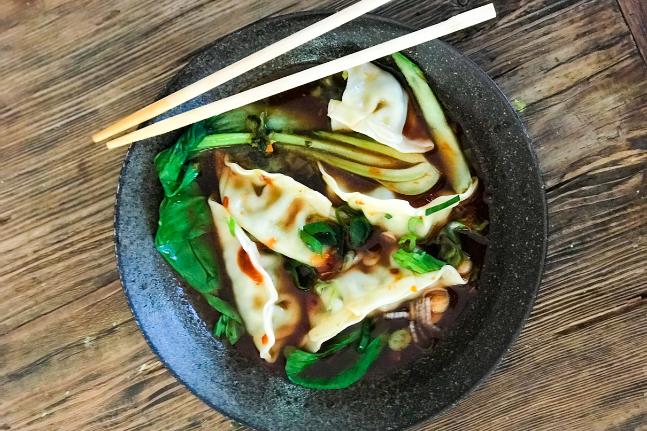 Vegan Dumplings In Spicy Sauce Recipe