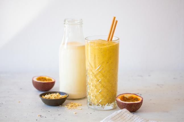 Mango & Passionfruit Oat Milk Smoothie Recipe