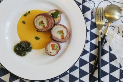 Chicken Bacon Rolls With Chimichiurri