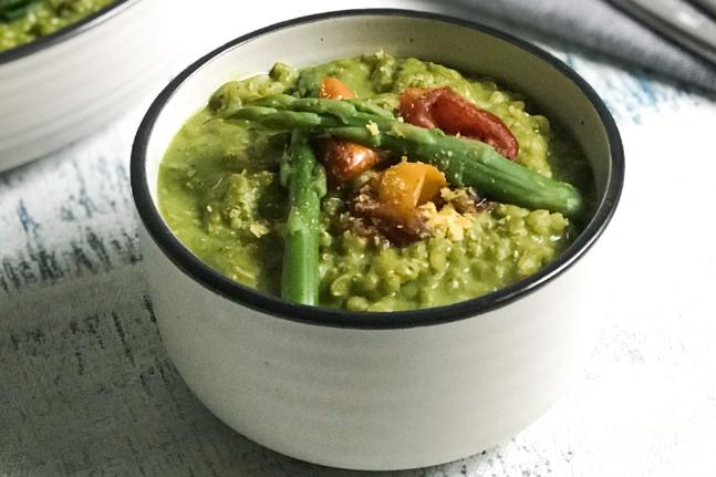 Pesto, Asparagus & Tomato Risotto