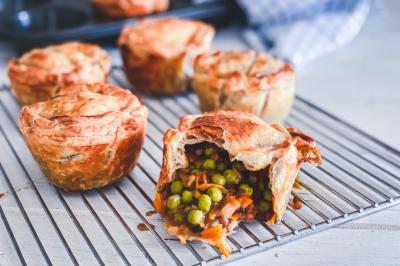 Mushroom, Pea & Lentil Vegan Pie Recipe
