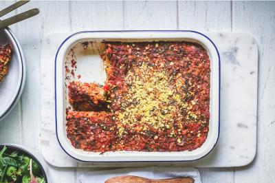 Spinach, Mushroom, Chickpea & Oat Loaf Recipe