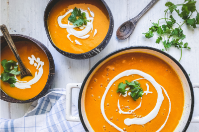 Pumpkin, Red Capsicum, Red Lentil & Turmeric Soup