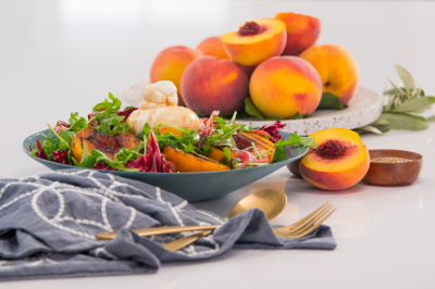 Grilled Peaches With Burrata & Balsamic Vinegar Salad Recipe