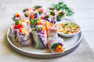 Rainbow Ricepaper Rolls Recipe