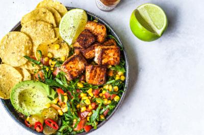 Salmon Taco Bowl Recipe