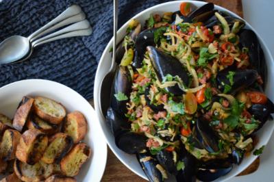 Chorizo Fennel Mussels Recipe