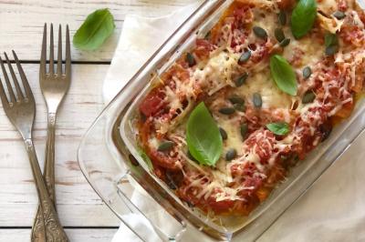 Roast Pumpkin & Spinach Vegetarian Lasagne Recipe