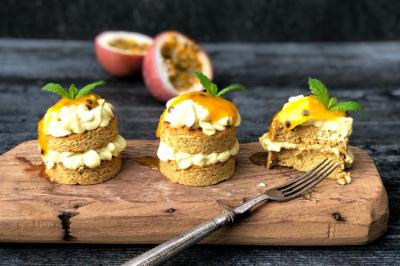 Flourless Orange & Passionfruit Gluten-Free Cake Recipe