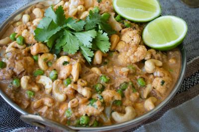 Cauliflower Cashew Vegan Curry Recipe