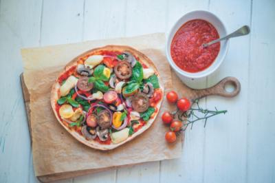 Vegan Pizza With Cashew Cream Cheese Recipe