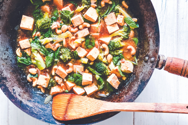 Cashews, Tofu, Broccoli Vegan Stir-Fry Recipe