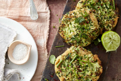 Minty Zucchini Fritters Slices Recipe