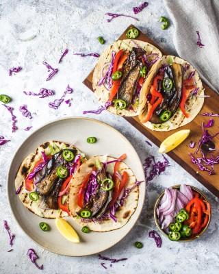 Smoky Braised Eggplant Tacos