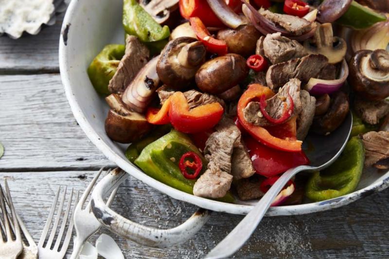 Tamari Mushroom & Beef Stir Fry Recipe