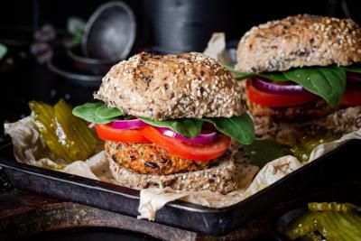 Veg-Packed Chickpea Burgers Recipe