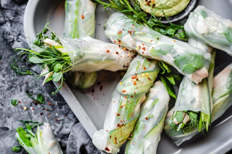 Green Goddess Ricepaper Rolls Recipe