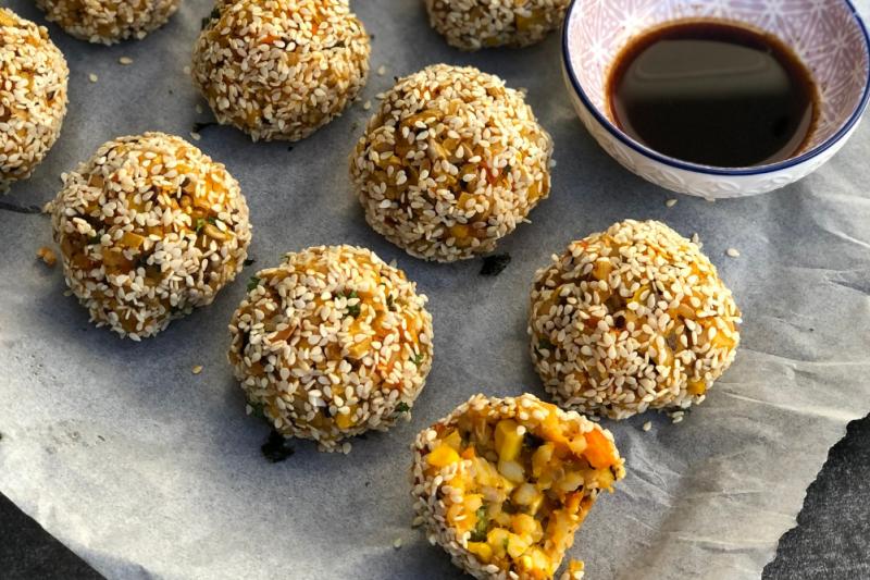 Veggie Rice Balls Recipe