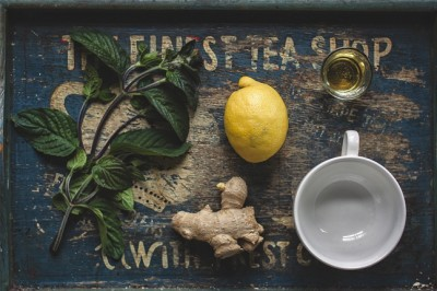 Herbal Health With Lemon And Ginger For Nausea And Stomach Issues