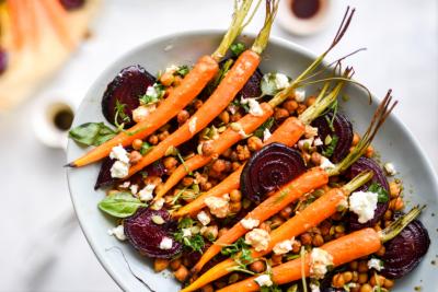 Roast Carrot, Chickpea & Goat's Cheese Salad Recipe